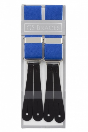 Royal Blue Braces With Leather Ends